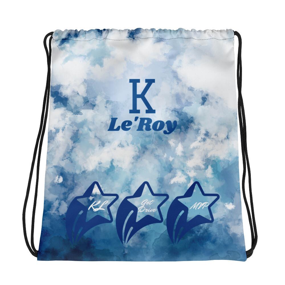K Le'Roy Denim Look Drawstring bag