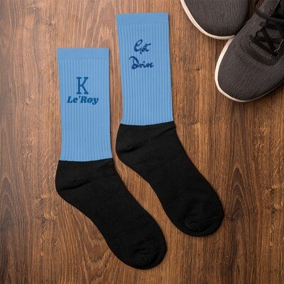 Baby Blue K Le'Roy Got Drive Socks
