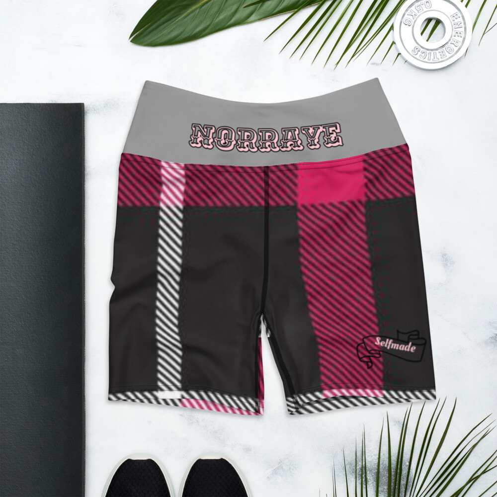 Gray Band Flannel Norraye Atheletic Shorts