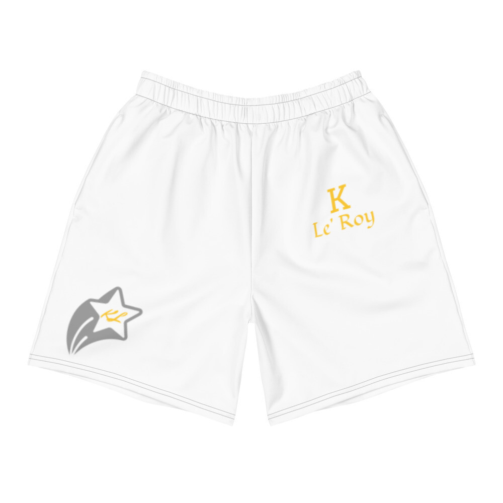 White KL Star Young Men's Athletic Long Shorts