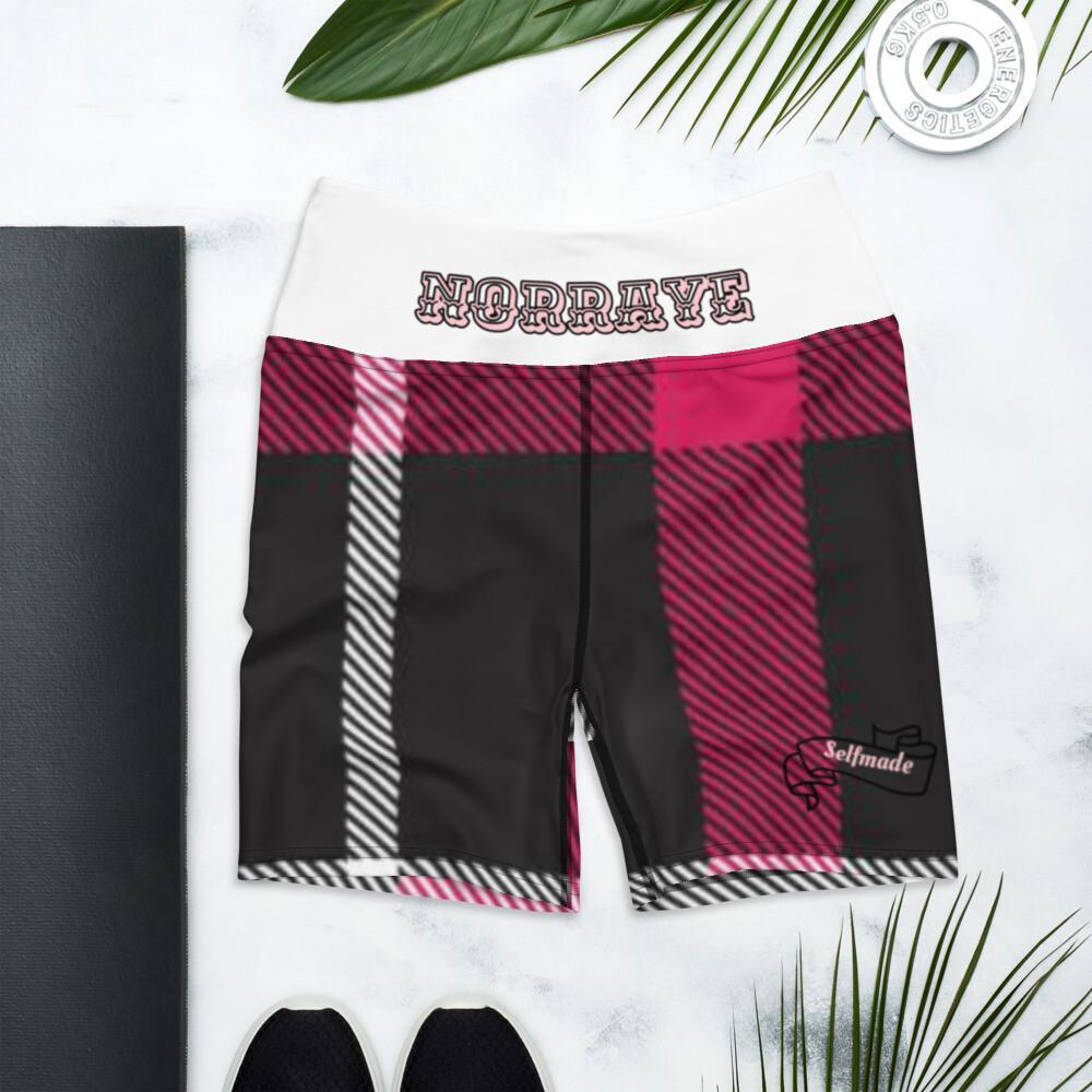 Norraye Flannel White Band Atheletic Shorts