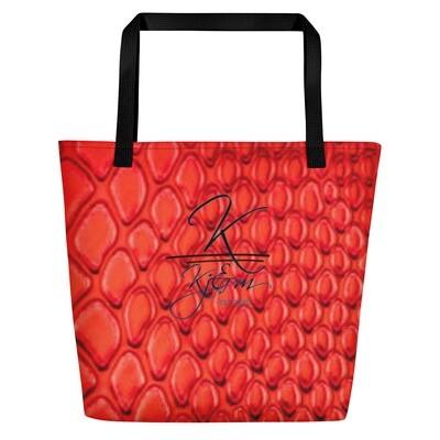 Red Snake Skin Kj&m All Around Bag