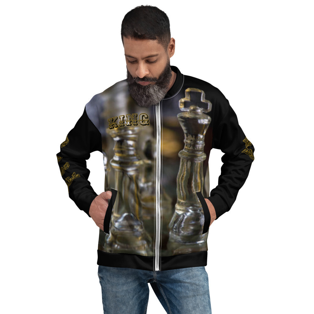 Men's King Black Bomber Jacket