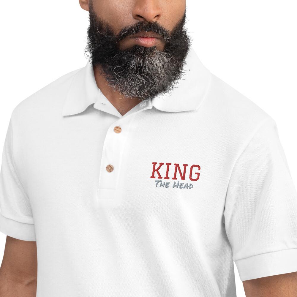 King Embroidered Polo Shirt