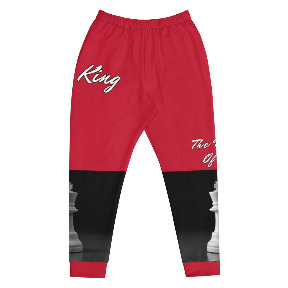 Men's Red King Piece Joggers