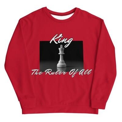 Red Men's King Chess Piece Sweatshirt