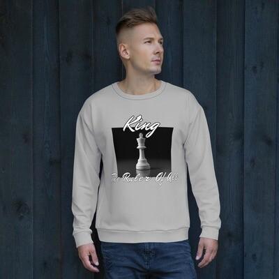 Men's Gray King Chess Piece Sweatshirt