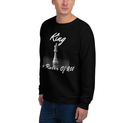 Men's Black King Chess Piece Sweatshirt