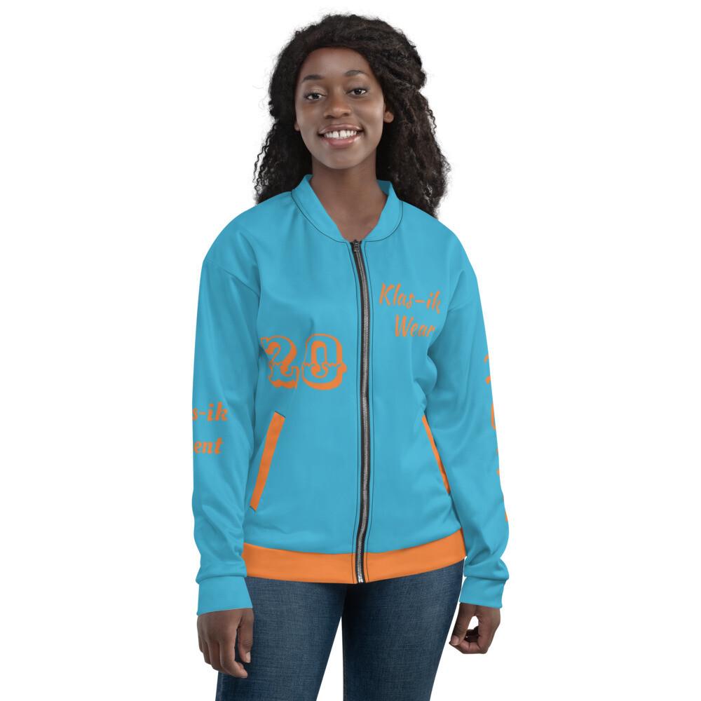 Klas-ik Wear Aqua Blue Bomber Jacket