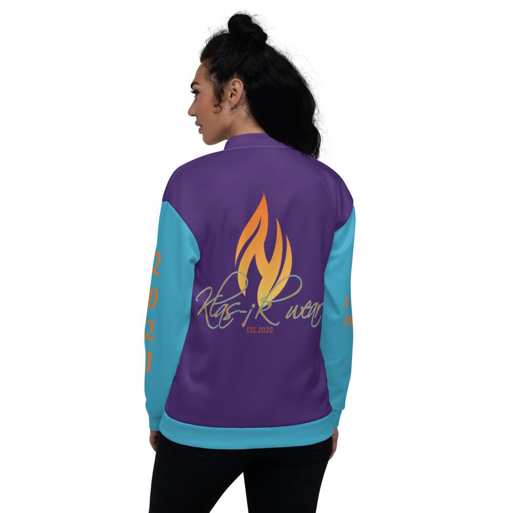 Purple Klas-ik Wear Bomber Jacket