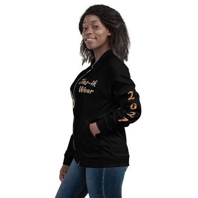 Black And Orange KW Bomber Jacket
