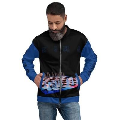 KING Chess Board Bomber Jacket