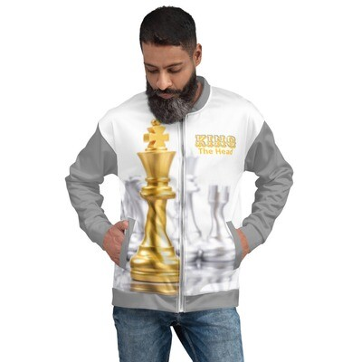 Gold King Chess Piece Bomber Jacket