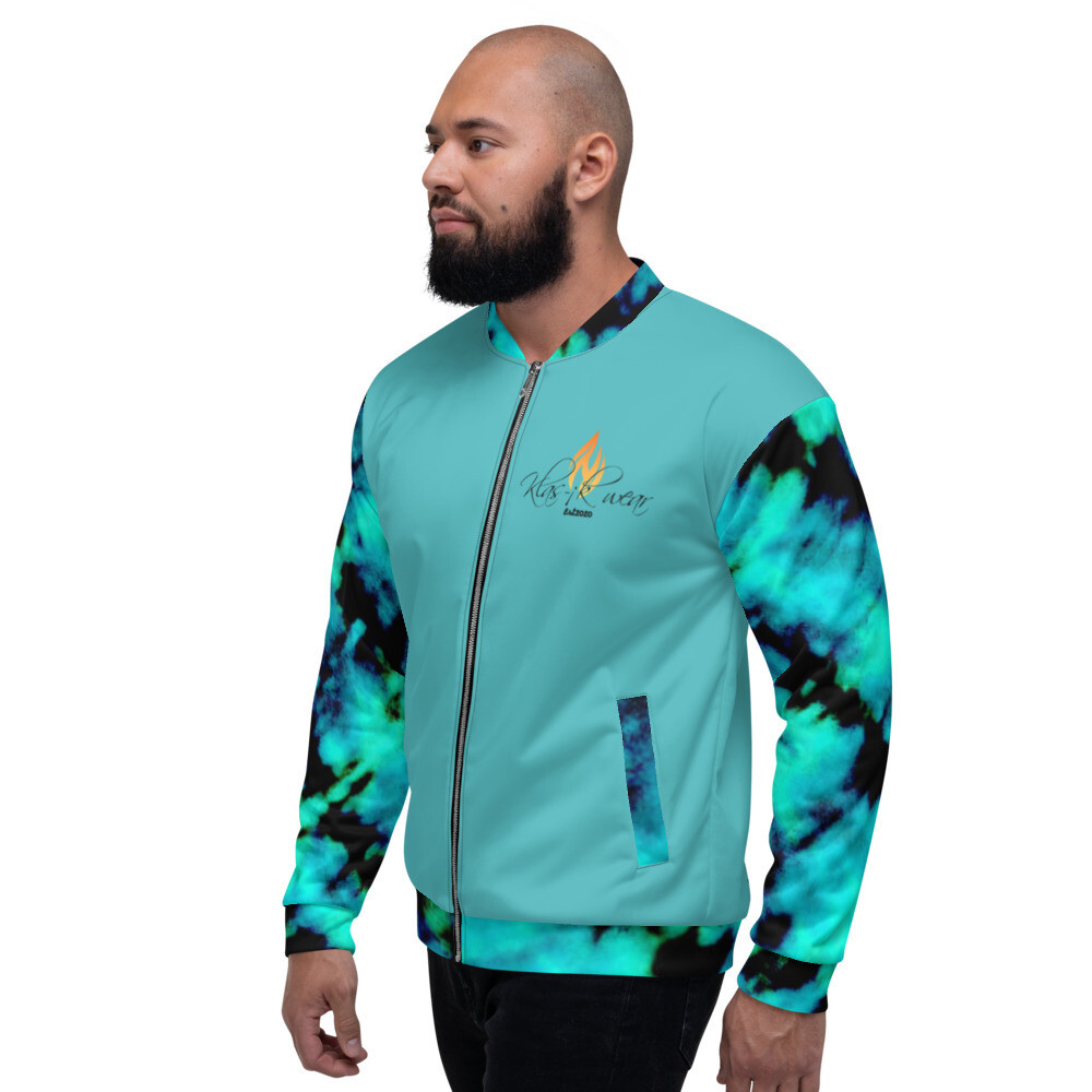 Blue Tye Dye KW Bomber Jacket
