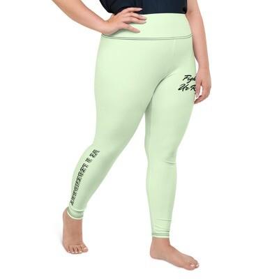 Mint WRL Slogan Plus Size Leggings
