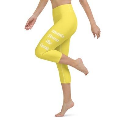 Yellow Queen Capri Leggings
