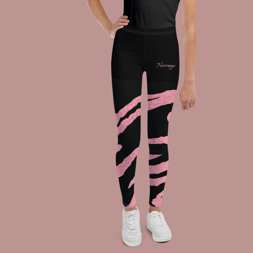 Norraye Black Zera Print Girl's Leggings