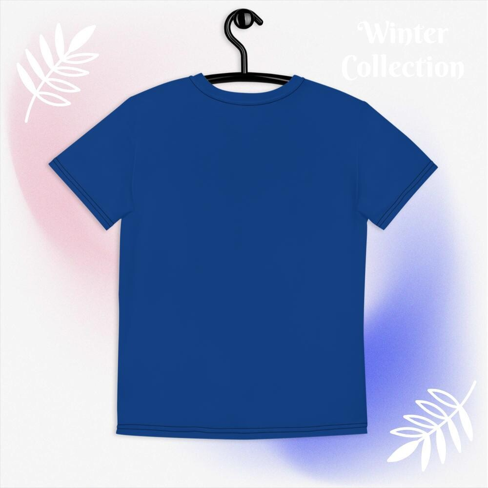 Norraye Blue Girl's Crew Neck T-shirt