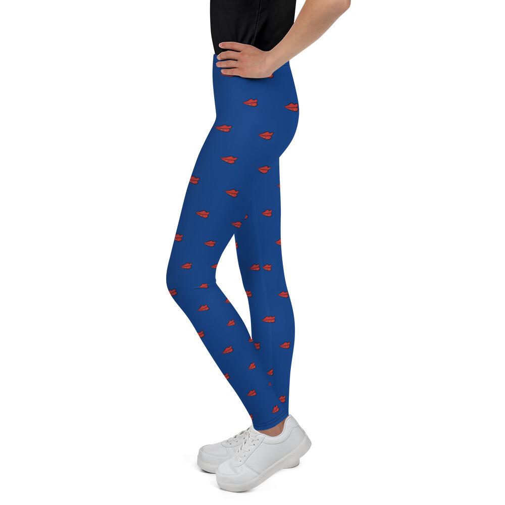 Norraye Logo Printed Blue Girl's Leggings