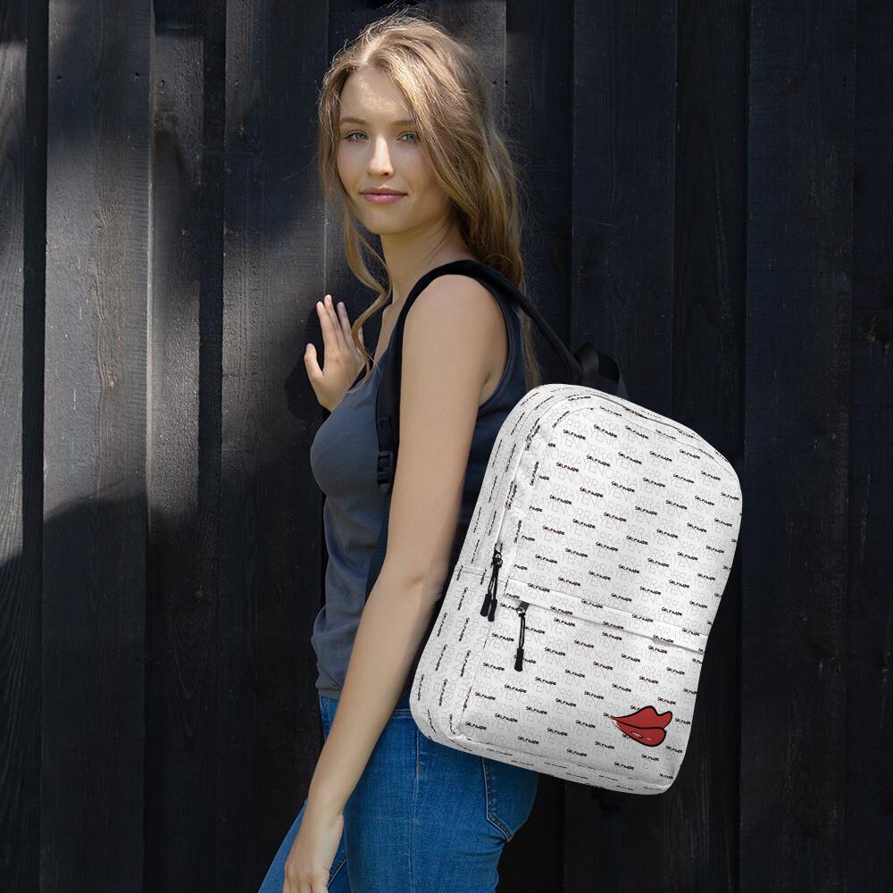 Norraye Printed White Girl's Backpack