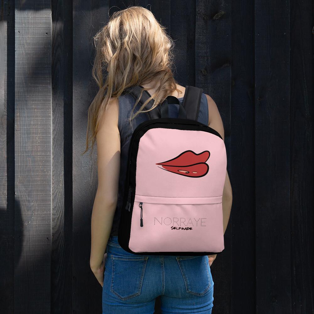 Pink and Black Norraye Girl's Backpack