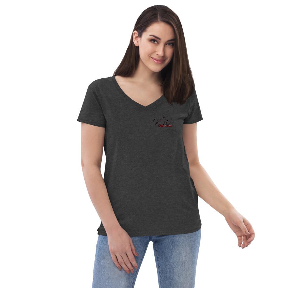 Women's New KW v-neck t-shirt