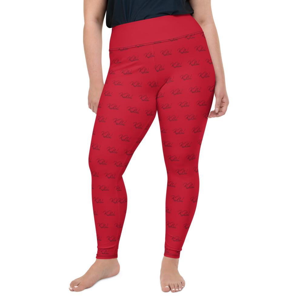 Red KW Plus Size Women Leggings