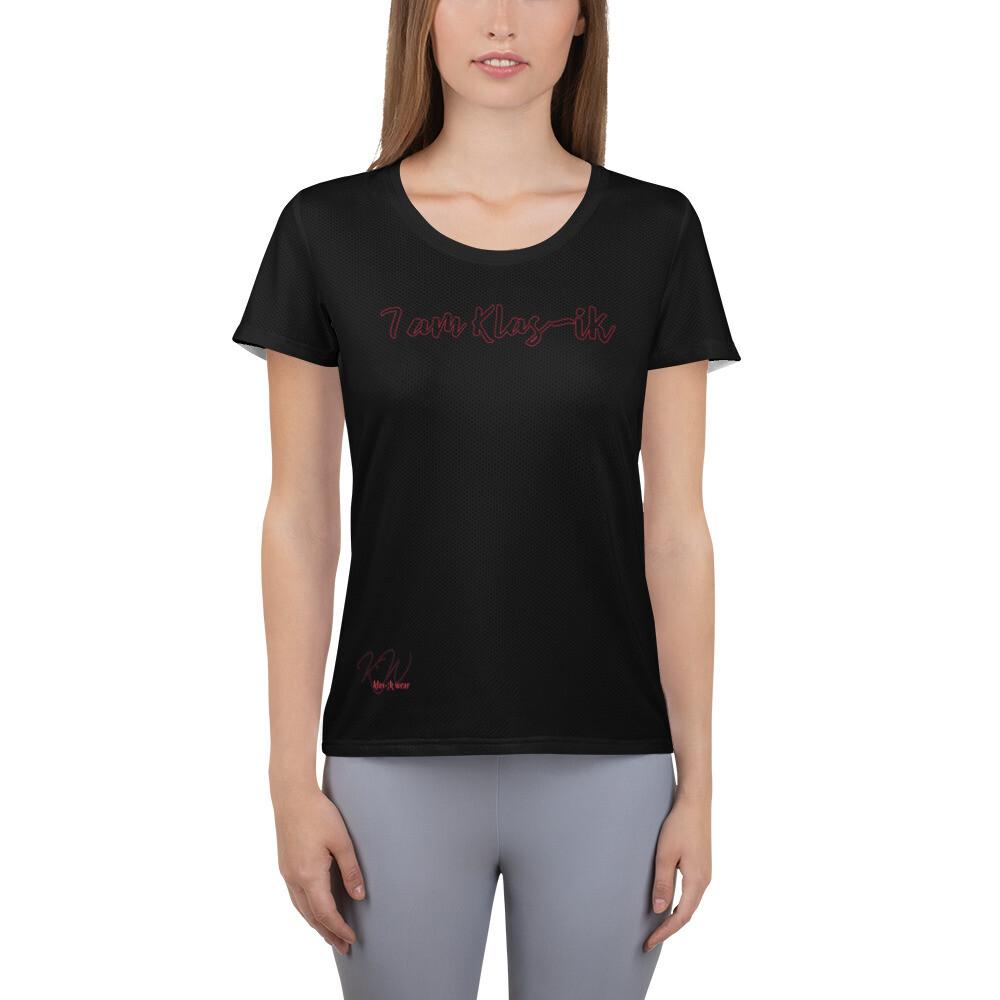 KW Black Plus Size Women's Athletic T-shirt