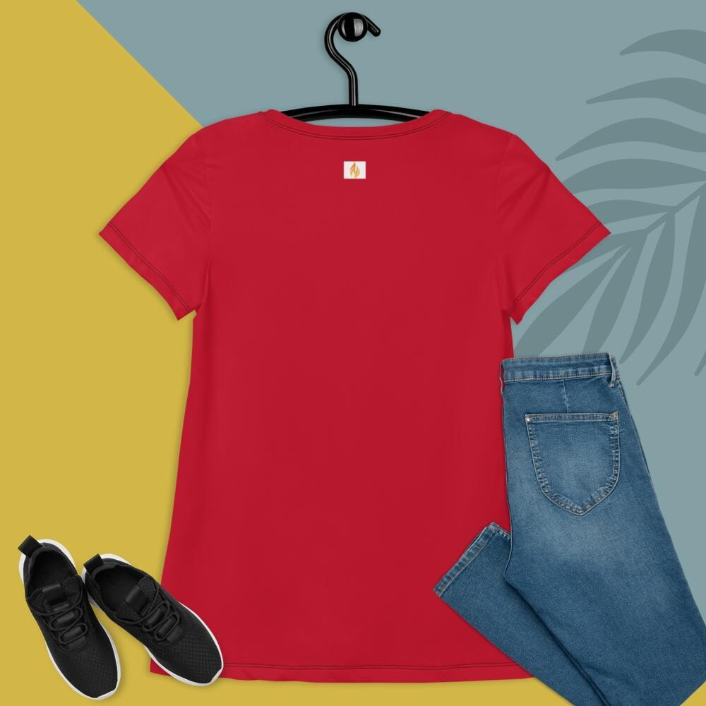 KW Red Plus Size Women's Athletic T-shirt