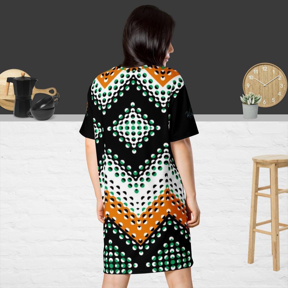 Klas-ik Wear Printed Plus Size T-shirt dress