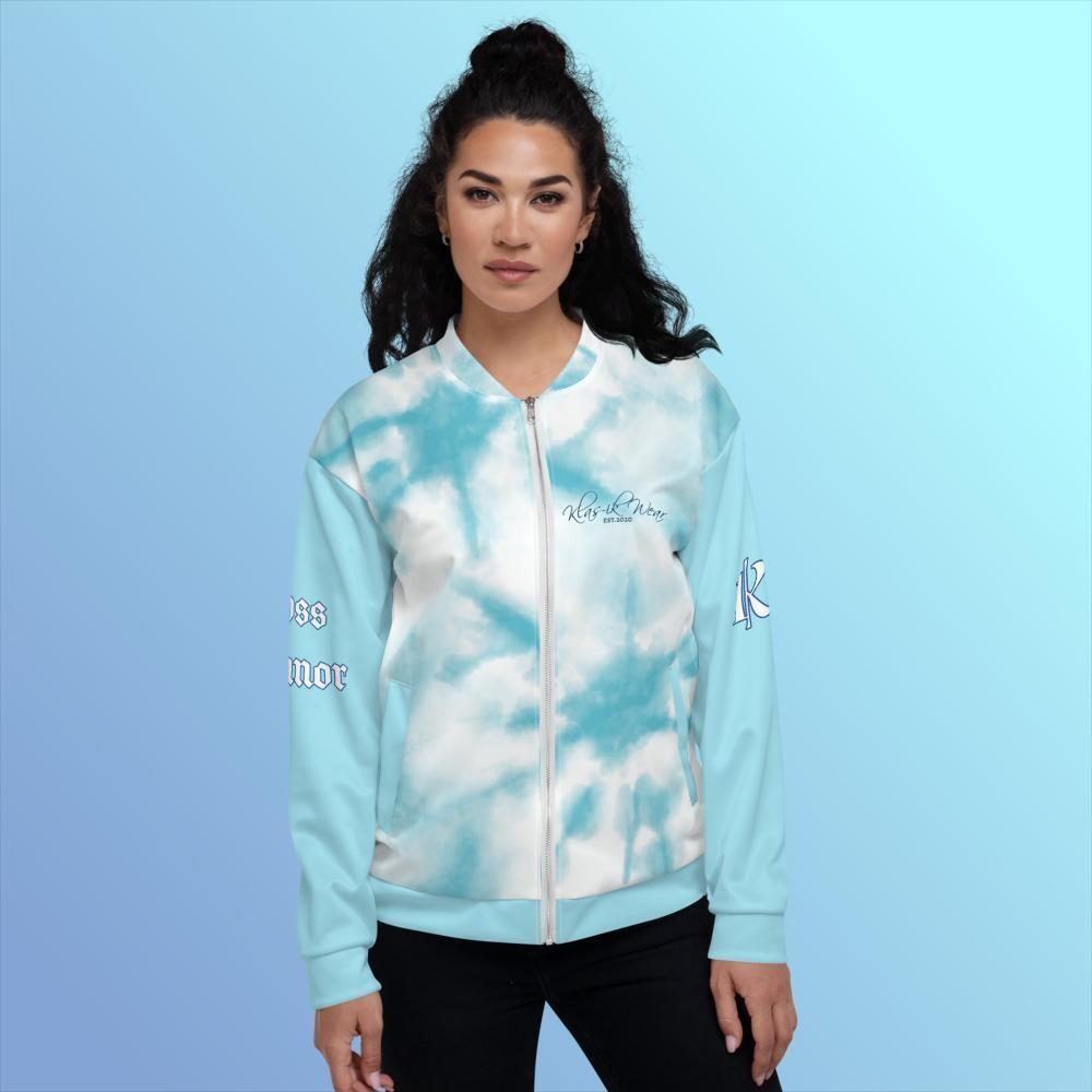 Women's KW Light Blue Bomber Jacket