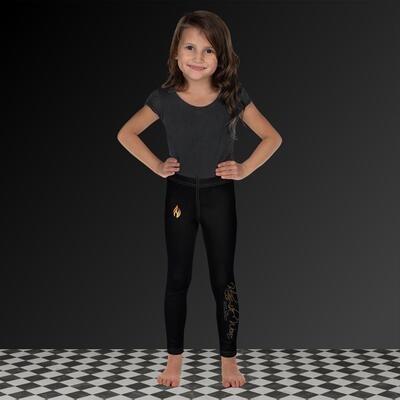 Black Klas-ik Wear Flame Kid's Leggings