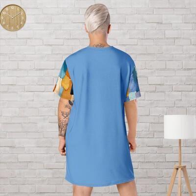 Blue Klas-ik Wear T-shirt dress