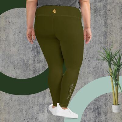 Money Green Klas-ik Wear Women's Plus Size Leggings