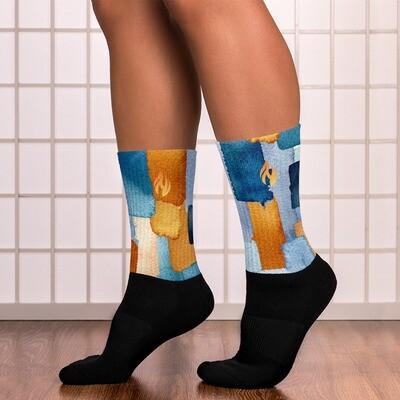 KW Flame Printed Socks