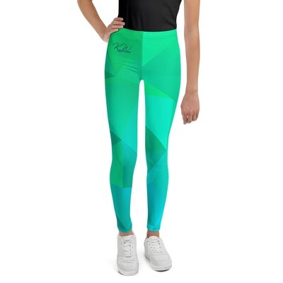 Greenish Printed KW Girl's Leggings