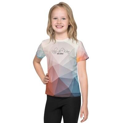 Colorful Printed Klas-ik Wear Girl's Crew Neck T-shirt