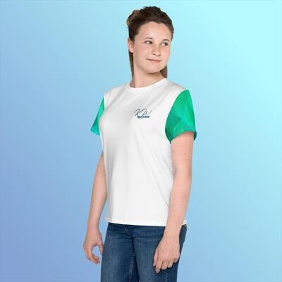 Girl's Greenish Sleeve KW T-shirt