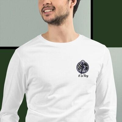 K Le'Roy Embroidered Long Sleeve Tee