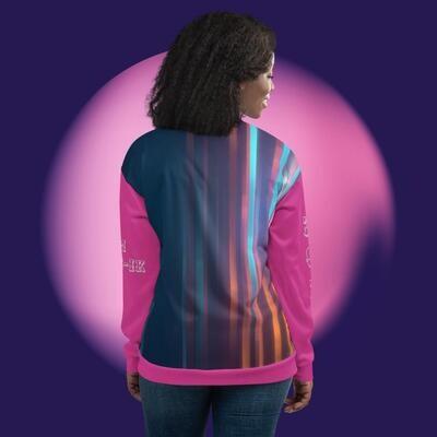 Colorful Pink Sleeve Klas-ik Wear Bomber Jacket