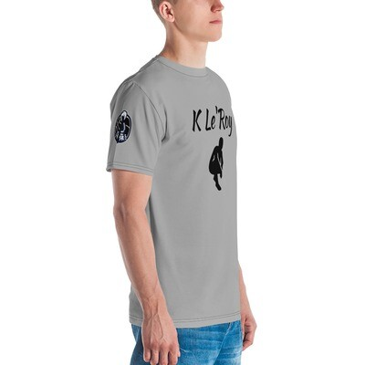 K Le'Roy Young Men's Silver T-shirt