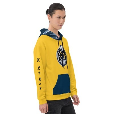 Gold and Navy K Le'Roy Hoodie