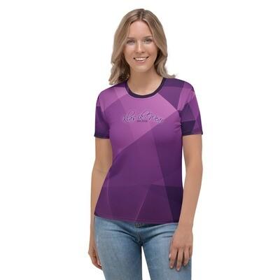 Purple Printed Klas-ik Wear Women's Shirt