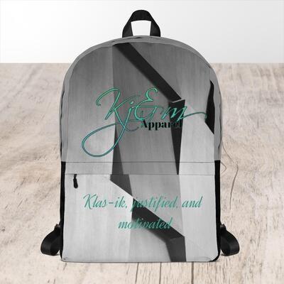 Grayish Printed Kj&m Backpack