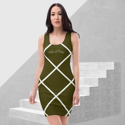Green and White Striped Cut & Sew Dress
