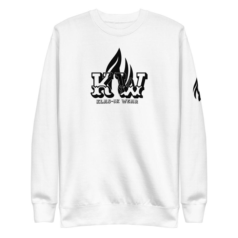 New KW Fleece Pullover Sweatshirt