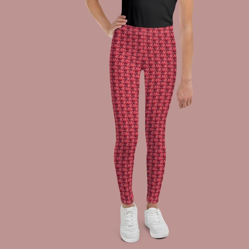 Maroon KW Youth Girl's Leggings