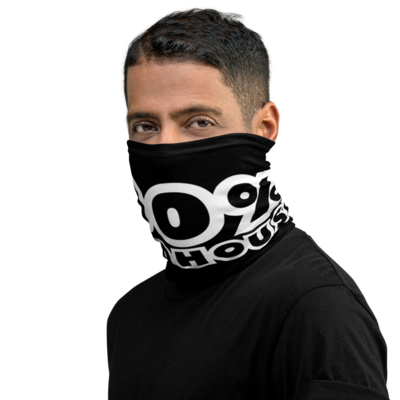 100% HH Face Covering - Black/White