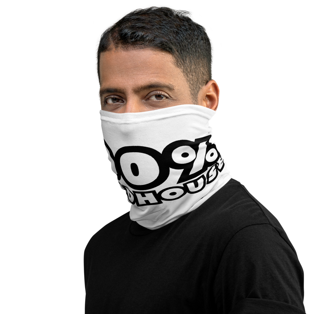 100% HH Face Covering - White/Black
