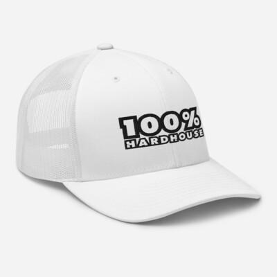 100% Hard House White Cap